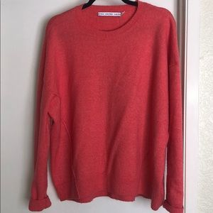 & other stories coral oversized sweater size M